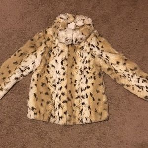 Michael Kors Faux Fur Bomber Jacket